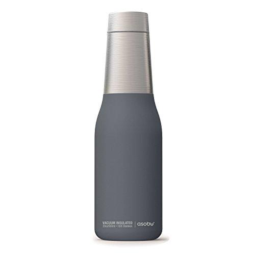 The Asobu Oasis Vacuum Insulated Double Walled 20oz Water Bottle (Grey)