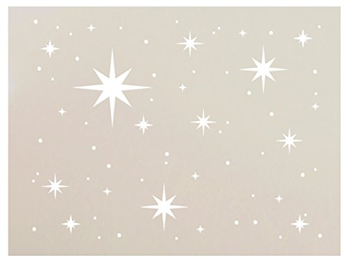 Twinkle Stars Stencil by StudioR12 | Fun Elegant  Reusable Mylar Template | Painting Chalk Mixed Media | Use for DIY Home Decor  STCL578 | Multiple Sizes Available 8quot X 6quot