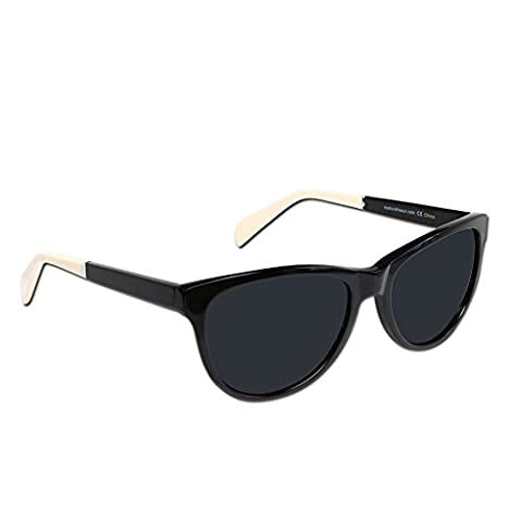 Eye Love Polarized Sunglasses for Women | 100% UV Blocking | 5 Colors (Black Designer Acetate Frames | Black High Definition Polarized - Velvet Lens