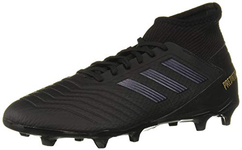 adidas Men's Predator 19.3 Firm Ground Soccer Shoe, Black/Gold Metallic, 7 M -