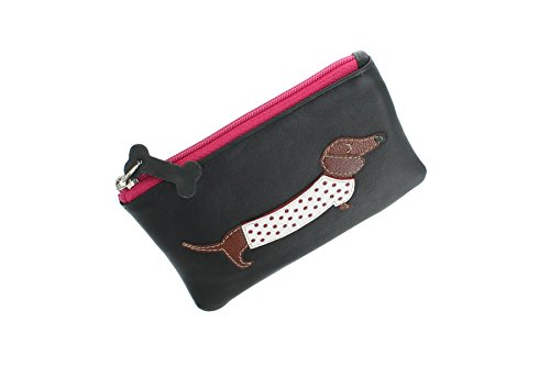 4133 Nero Monete Bassotto Porta In Pelle Friends Collezione Best 65 Leather Mala qBzwP7q