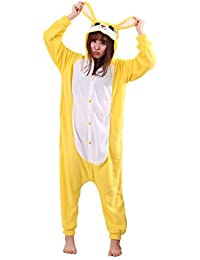Unisex Warm Sleepwear Adult Cosplay Rabbit Pajamas Costume Homewear