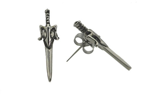 Masters of The Universe Sterling Silver 925 He-Man Power Sword Earrings Jewelry -