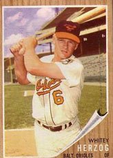 1962 Topps Regular (Baseball) Card# 513 Whitey Herzog of the Baltimore Orioles ExMt Condition by Topps