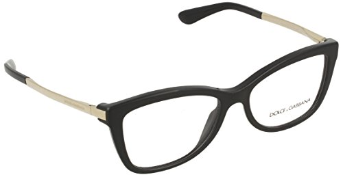 Dolce&Gabbana SICILIAN TASTE DG3218 Eyeglass Frames 501-54 - Black - Dolce Gabbana Optical Glasses And