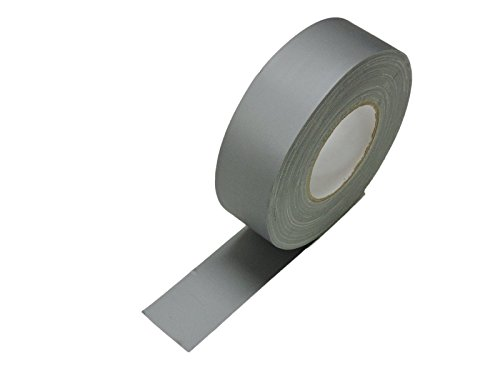 2 x 60 yd Gray Silver Grey Gaffers Tape HEAVY 12.8 Mil Smooth Matte Finish PRO Floor Stage Gaff Tape Audio Video Theater Cloth Reinforced Rubber Adhesive Removable High Traffic No Residue 48MM X 55M