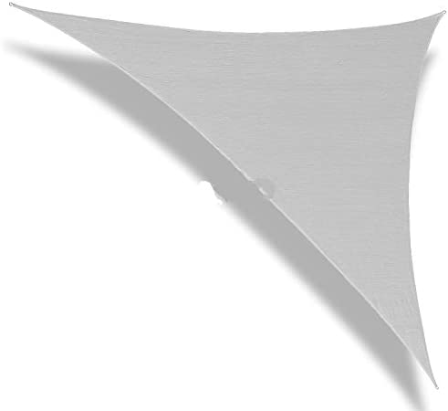 Patio Paradise 20' x 20' x 20' Light Grey Sun Shade Sail Equilateral Triangle Canopy