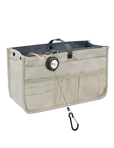 - Dahlia's Patented Handbag Purse Organizer Insert - STURDY Flexible, Tan