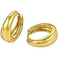 Amaal Mens Jewellery Kaju Bali Salman Khan Style Ear Rings Gold Hoop Earrings for Men Boys Man Unisex Ear Rings -BALI-701