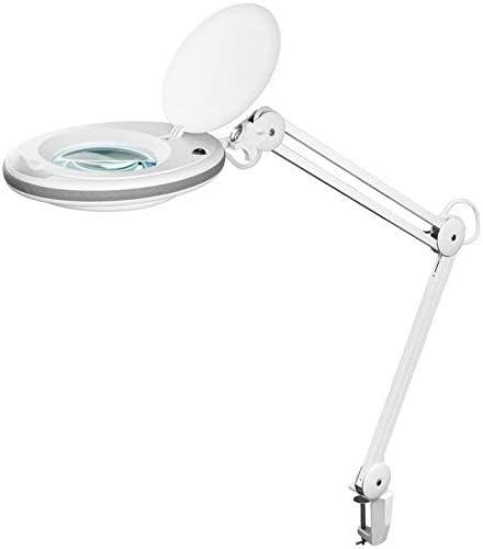 7,5 W; UK-LED Klemm-Lupenleuchte 3 Dioptrien Goobay UK-LED Klemm-Lupenleuchte 125 mm Glaslinse 7,5 W 1,75x Vergr/ö/ßerung 520 Lumen Wei/ß