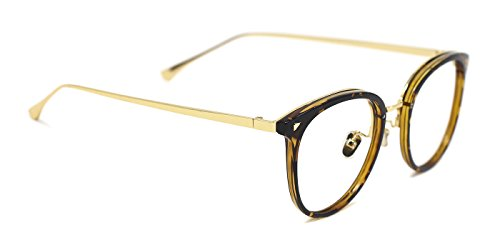 8ad5adc648d TIJN Women TR90 Retro Metal Round Glasses Frame Optical Rx-able Eyeglasses  Frame
