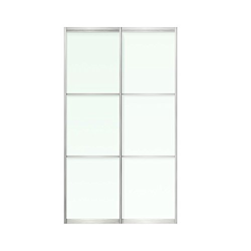 """Sliding Bypass Door For Closet, 2 frosted glass panels, 48 x 96"""""""