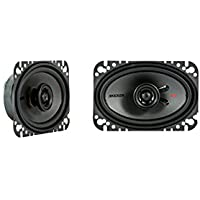 Kicker KSC4604 KSC460 4x6 Coax Speakers with .5 tweeters 4-Ohm