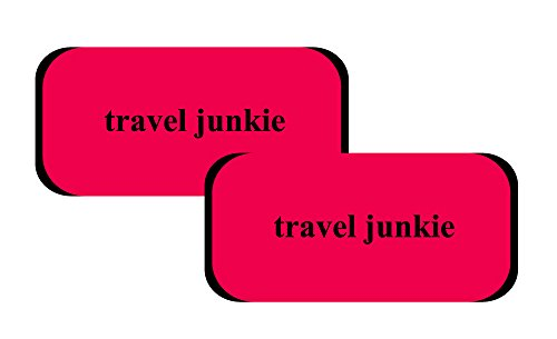 Velcro Luggage Comfort Luggage Handle Wrap - Set of 2 - Travel Junkie By Inventive Travelware (Red)
