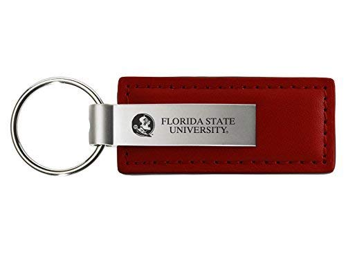 LXG, Inc. Florida State University - Leather and Metal Keychain - - Leather State Florida University