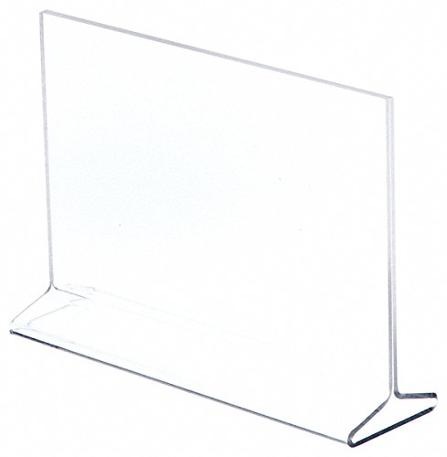 - Plymor Brand Clear Acrylic Sign Display/Literature Holder (Top-Load), 8.5