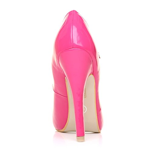 En Janes Chaussures Très Mischa Fuchsia Talon Haut Cuir Marie Brevet Stiletto Pu OgqRnBE1wq
