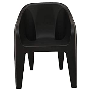 Supreme Futura Plastic Chair (Black)(Set of 4)