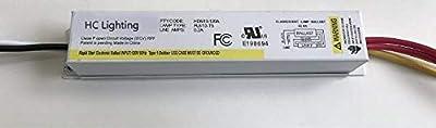 HC Lighting Electronic Ballast for use with 1 - F8T5 (8 watt), or 1 - F13T5 (13 Watt) Fluorescent Light Bulbs 120V input