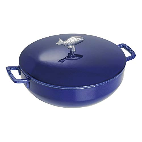 (Staub Bouillabaisse Pot, Dark Blue, 5 qt.)