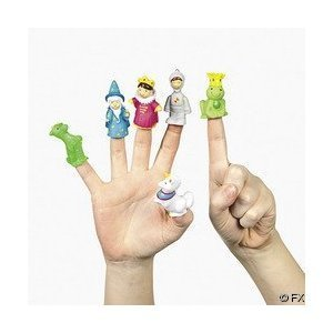 Fairy Tale Finger Puppet Party Favors by Fun Express - 24 Assorted Characters - Kings, Knights, Wizards
