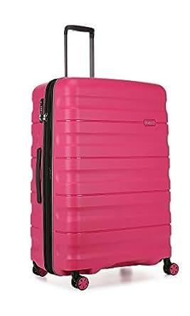 Antler Juno 2 4W Large Roller Suitcase Hardside, Pink, 81cm
