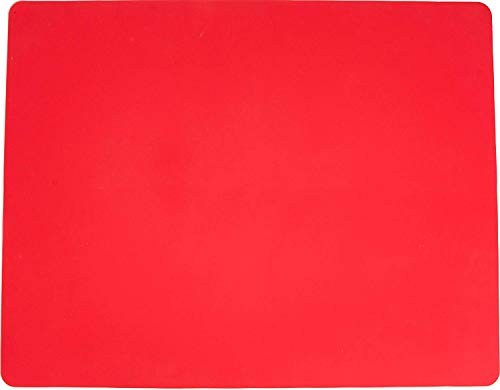 Silicone Baking Mat for Dough Rolling Pastry Fondant Mat Large Nonstick and Nonskid Heat Resistent, Countertop Protector, Dining Table Mat and Placemat 20 by 16(Without Measurements, Red)