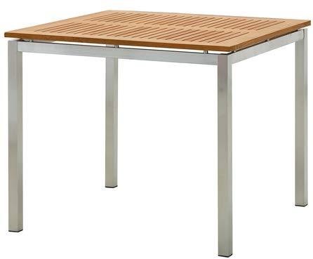 Gartentisch Teak Edelstahl.Edelstahl Teak Gartentisch 90x90 Cm Holztisch Esstisch Tisch Massive Ausführung A Grade Teakholz Kuba Modell Kuba Von As S