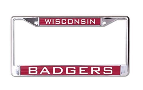 WinCraft NCAA Wisconsin Badgers 6 x 12 inch Metal License Plate - Badgers Frame Wisconsin Plate License
