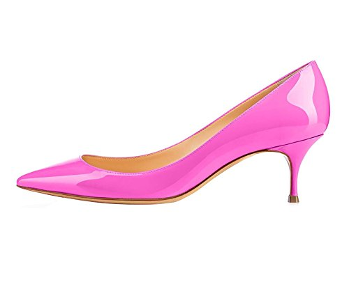 Toe Kitten Party Club Heels Rose Office Court Soireelady Shoes Women's Pumps Closed Dress Rgx0Y6n