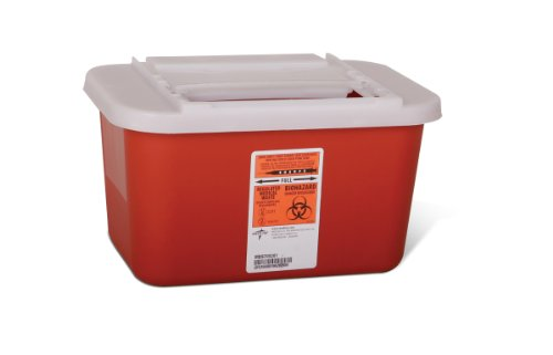 :Biohazard Multipurpose Sharps Containers (1 Case of 32) by Medline