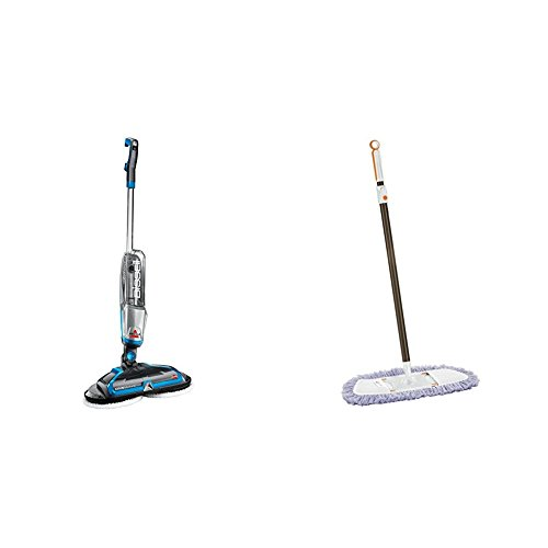 BISSELL Spinwave Plus Hard Floor Cleaner and Mop, Silver with Lightweight Tile, Wood Floor and Hard Surface Dust Mop, 1763