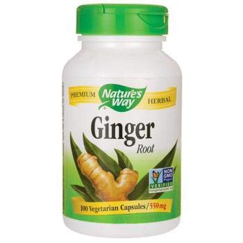 - Nature's Way Premium Herbal Ginger Root 550 mg, 100 VCaps (Packaging May Vary)