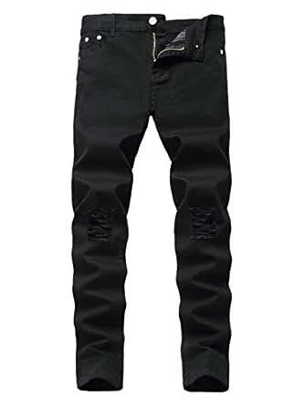 Big Boys Denim Cotton Skinny Jeans Fashion Slim Fit Pants for Kids Age 10 Black