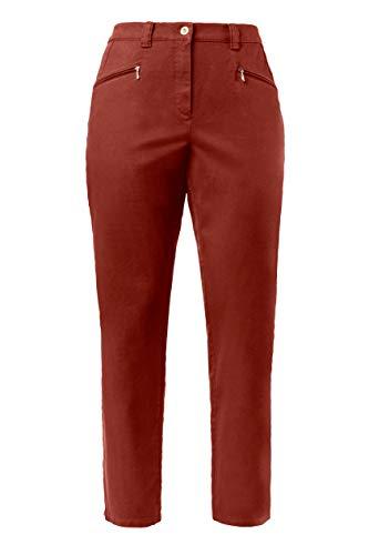 Grandes 31 Popken Tailles Rouge Coupe Chino Cuivre 624193 Ulla Pantalon 64 Mony Droite Ajustée 32 Femme RZqfwpqxE