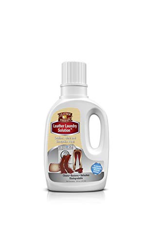 Leather Therapy Leather Care Products - Leather Laundry Solution - Gentle Detergent Alternative for Machine Washing Leather Clothes, Natural Fleece & Sheepskin, 16 Ounce