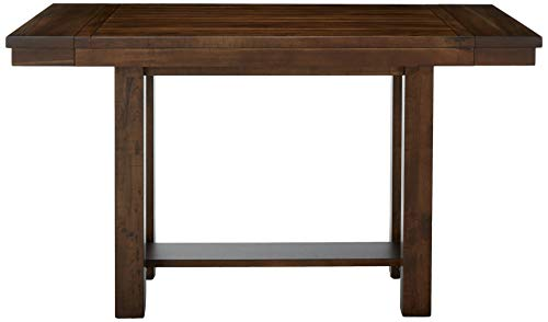 Signature Design by Ashley Moriville Counter Height Dining Room Extension Table, Grayish Brown