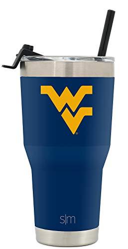 Simple Modern College Tumbler Straw West Virginia