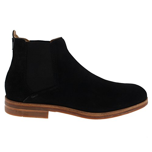 H By Hudson Mens Tonne Suede Chelsea Boot Nero