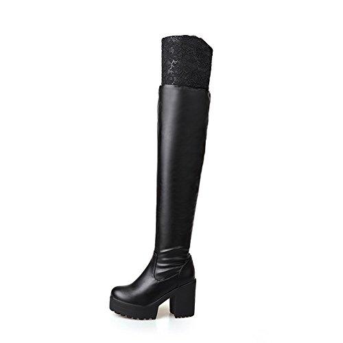 AdeeSu Womens Casual Comfort Platform Urethane Boots SXC02090 Black 2uUtT3GvF