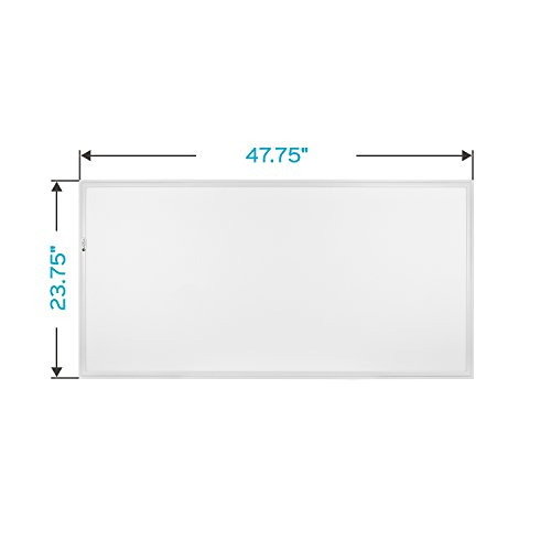 Luxrite 2x4 LED Flat Panel Light with Emergency Battery Backup, 60W 3500K Natural White, 0-10V Dimmable, 6630 Lumens, LED Drop Ceiling Lights, 100-277V, DLC and UL Listed, Ultra Thin Edge Lit - 2 Pack by LUXRITE (Image #4)