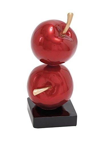 Deco 79 50152 Polystone Red Double Apple