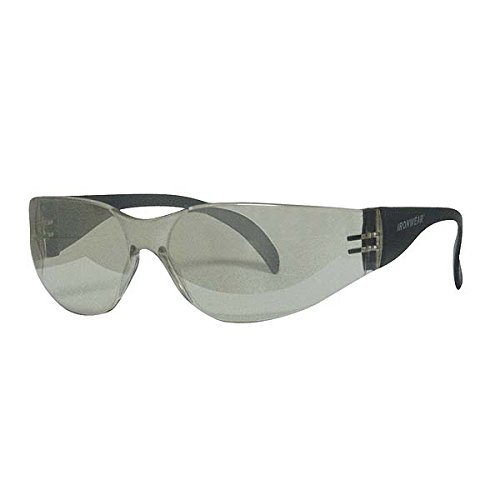 (Ironwear Harmony 3550 Series Nylon Protective Safety Glasses, Indoor/Outdoor Mirror Lens, Grey Frame (3550-G-IOM))