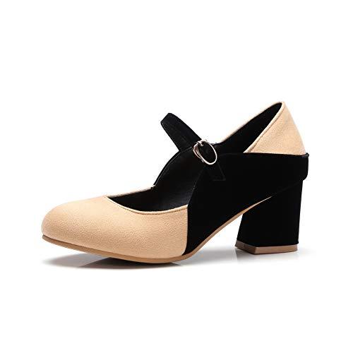 AdeeSu Compensées Abricot 36 SDC05762 5 Sandales EU Femme Beige qEEzwr