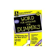 Word for Windows for Dummies