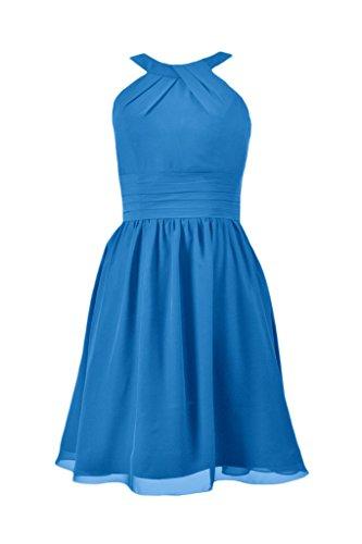Daisyformals Licol En Mousseline De Soie Partie Longueur Genou Robe Robe Formelle (bm253451) # 37 Bleu Royal