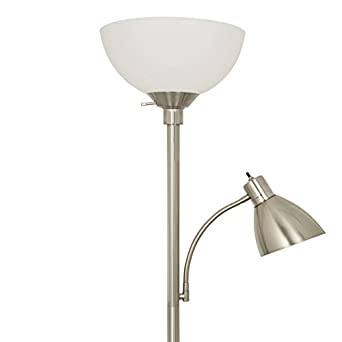 Light Accents 150 Watt Metal Floor Lamp with Side Readi...