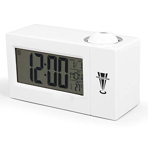 Jiege Reloj Despertador proyector,Reloj de proyección ...