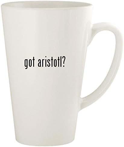 got aristotl? - 17oz Ceramic Latte Coffee Mug Cup, White