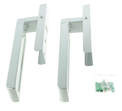 First4Spares Universal Extendable Wall Mounting Brackets For All Makes And Models Of Microwave Silver